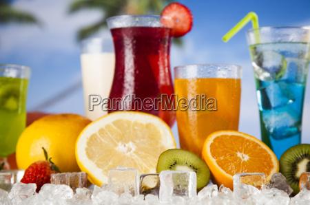 tropical, cocktails, set - 25160598