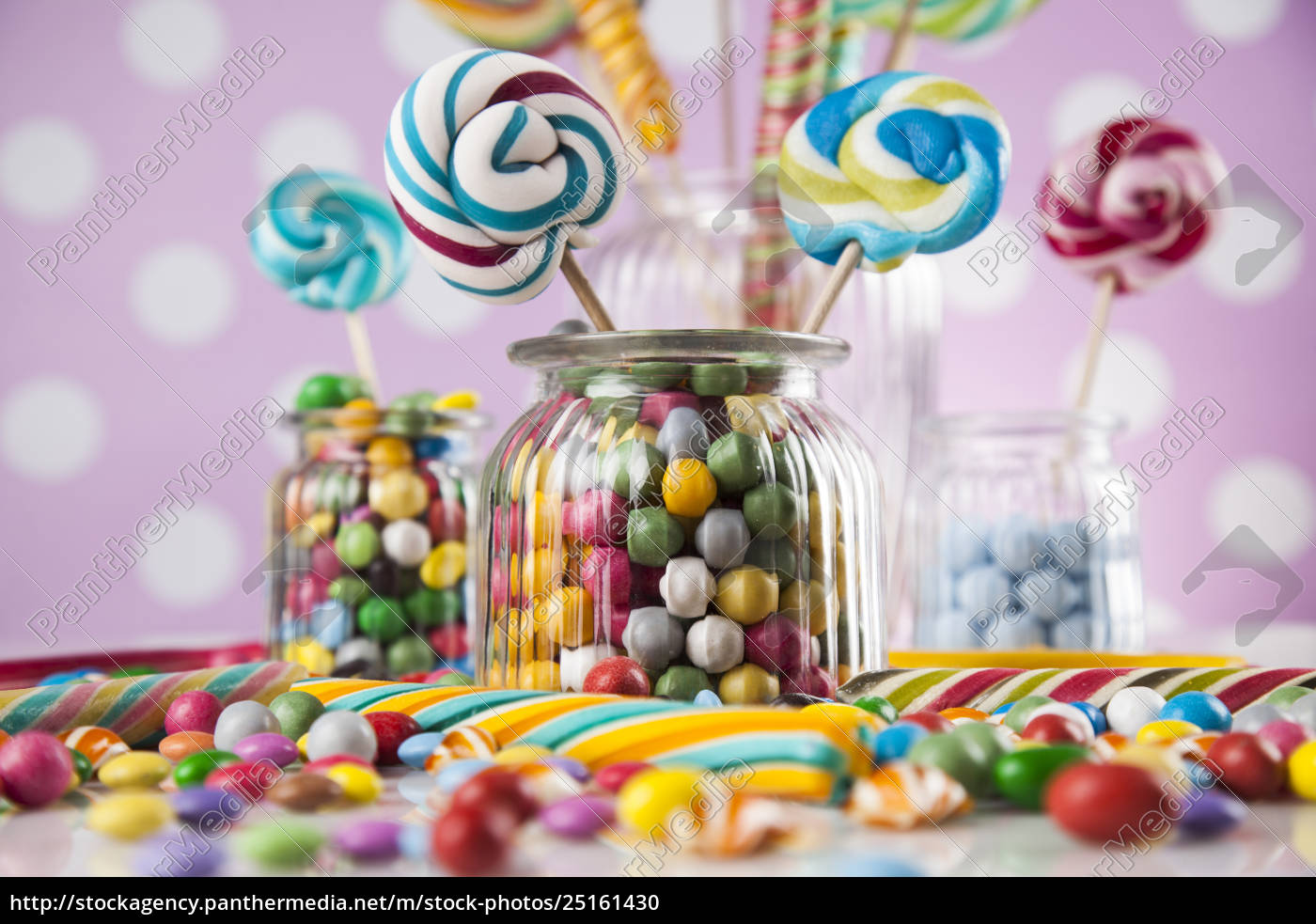 colorful, lollipops, and, different, colored, round - 25161430