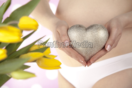 heart, , beautiful, pregnant, woman, belly - 25161042