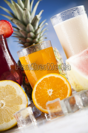 summer, drink, , palm, branch, and, fresh - 25161044
