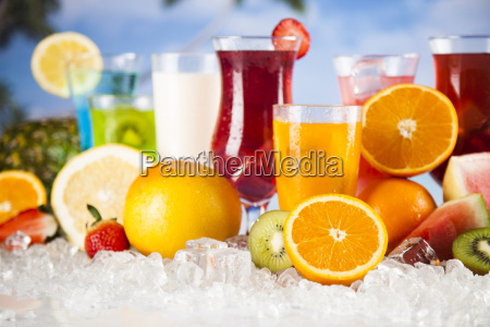 summer, drink, , palm, branch, and, fresh - 25161178