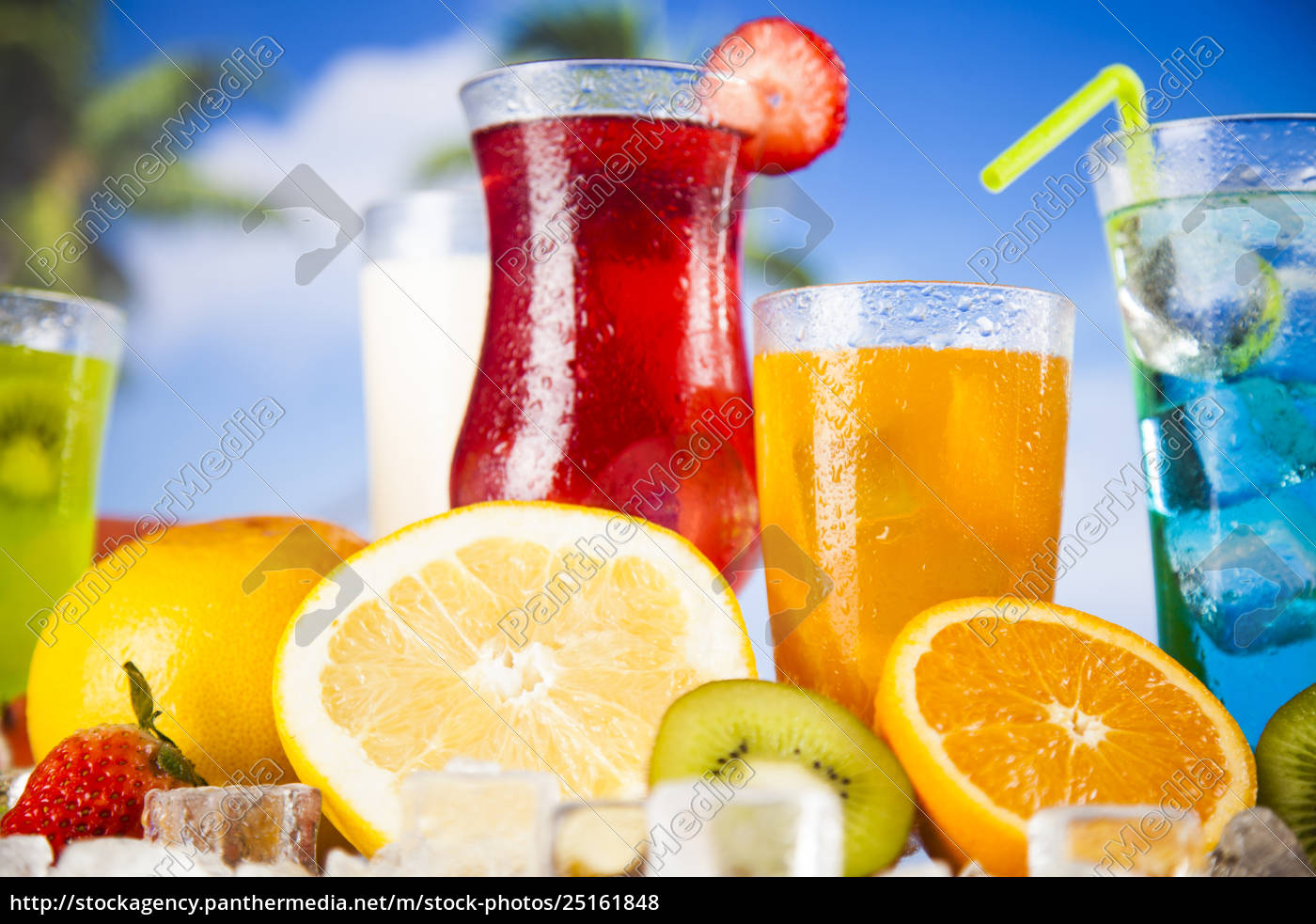 summer, drink, , palm, branch, and, fresh - 25161848
