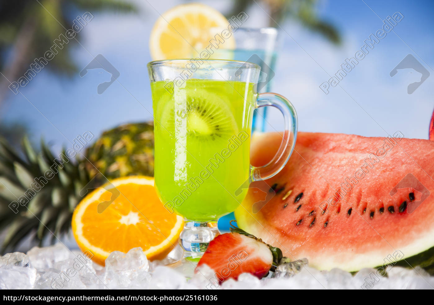 tropical, cocktails, set - 25161036