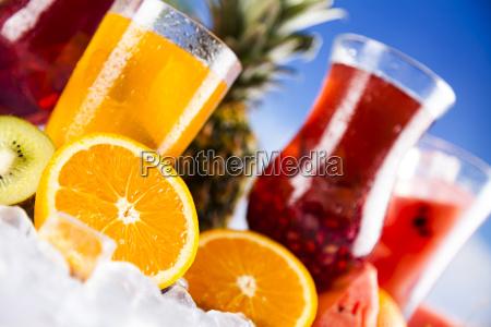 tropical, cocktails, set - 25161040