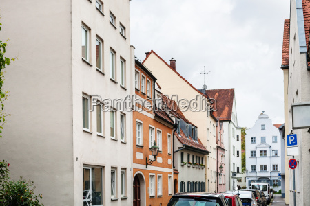 old residential quarter in augsburg town