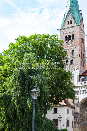 augsburg cathedral augsburger dom in spring