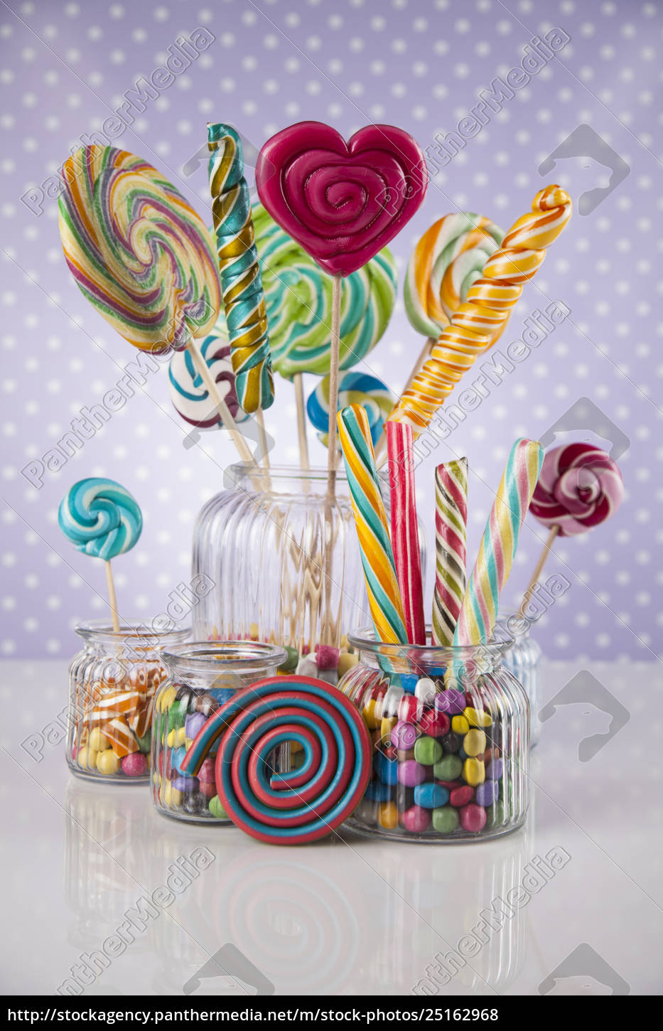 colorful, lollipops, and, different, colored, round - 25162968