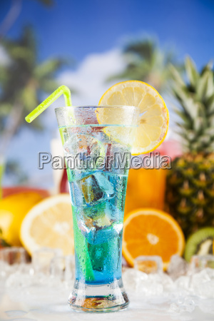 fresh, tropical, fruits, , summer, drink, and - 25162950
