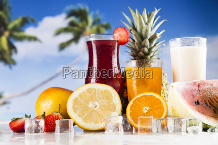summer, drink, , palm, branch, and, fresh - 25162954