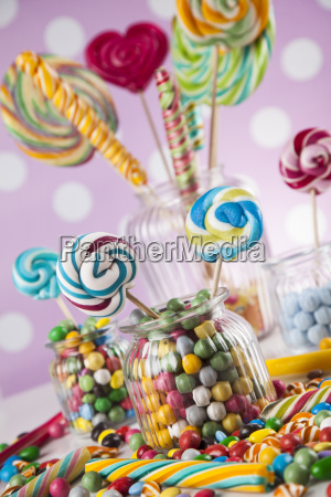 different, colorful, sweets, and, lollipops - 25163096
