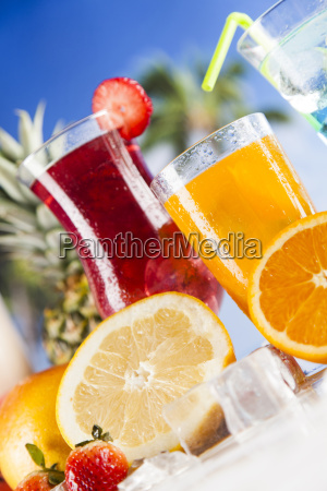 fresh, tropical, fruits, , summer, drink, and - 25163054
