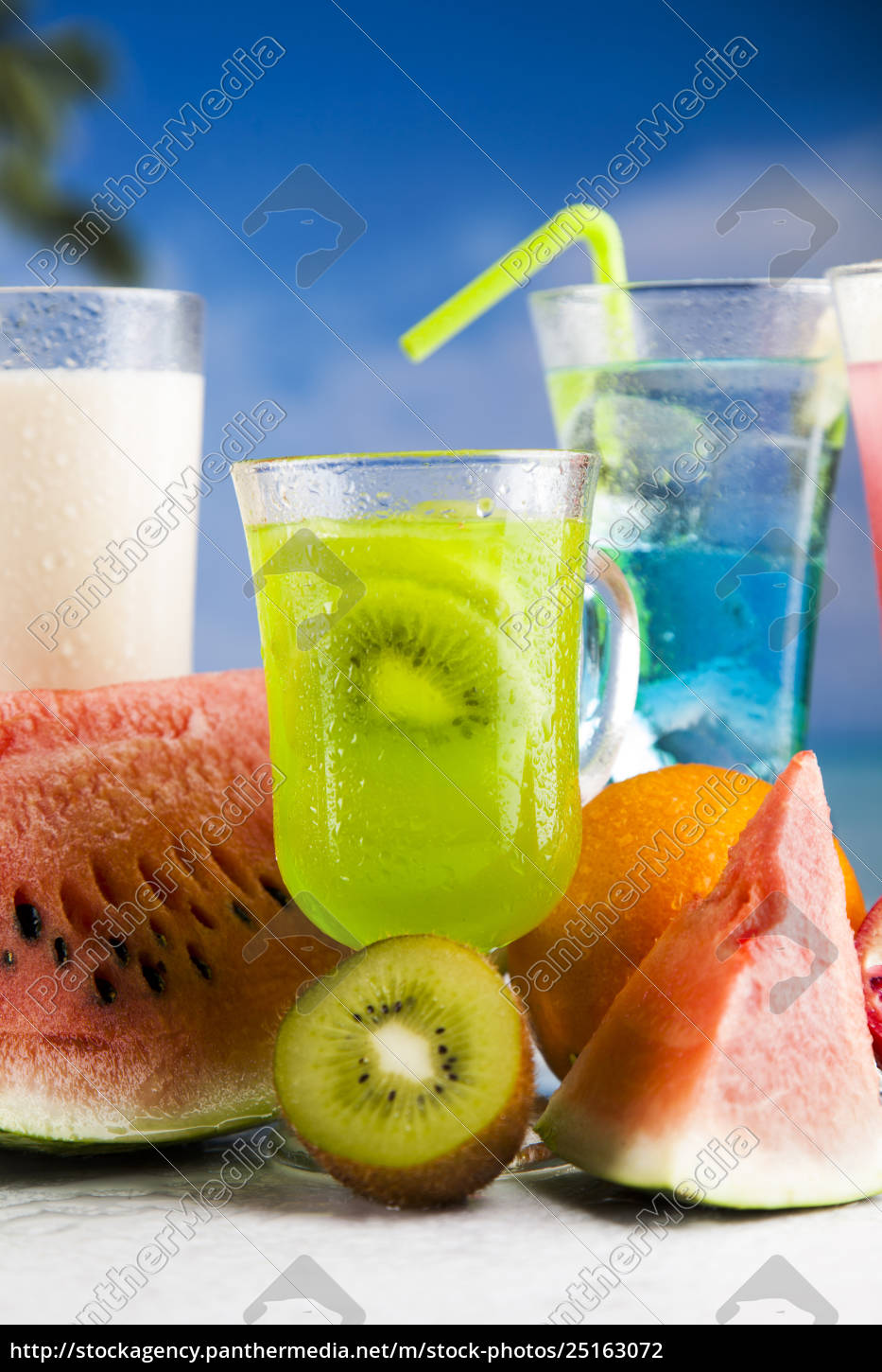 summer, drink, , palm, branch, and, fresh - 25163072
