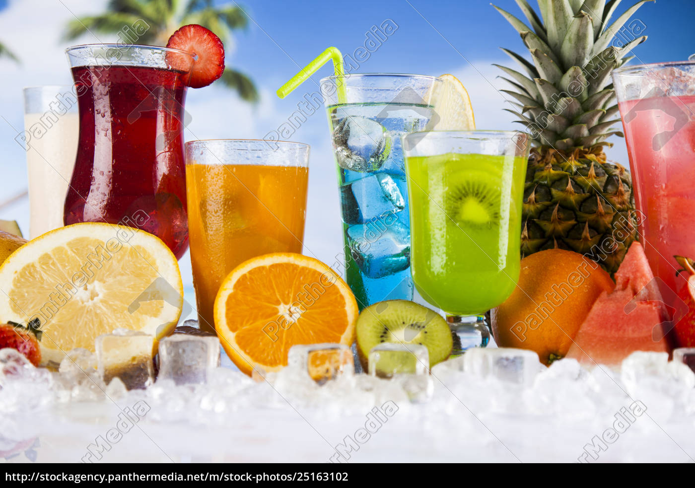 summer, drink, , palm, branch, and, fresh - 25163102