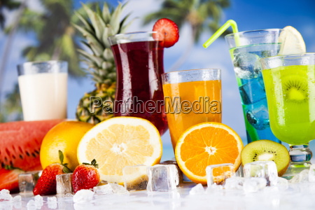 summer, drink, , palm, branch, and, fresh - 25163132