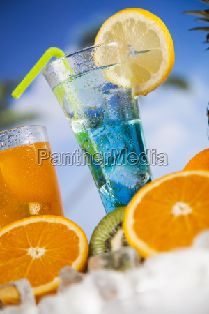 summer, drink, , palm, branch, and, fresh - 25163150