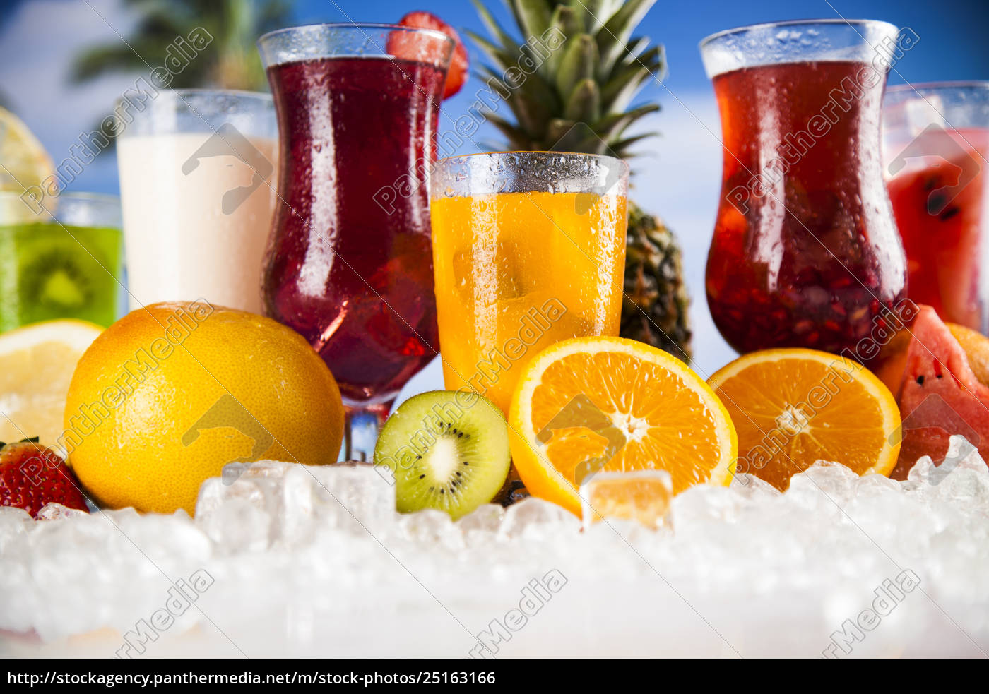 summer, drink, , palm, branch, and, fresh - 25163166