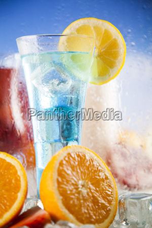 tropical, cocktails, set - 25163140