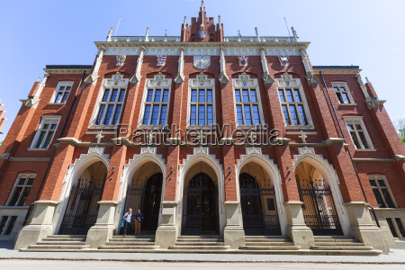 facade of jagiellonian university old town