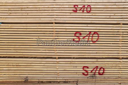 wooden stack bavaria germany europe