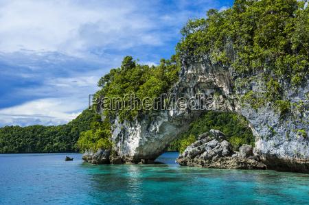 rock arch in the rock islands
