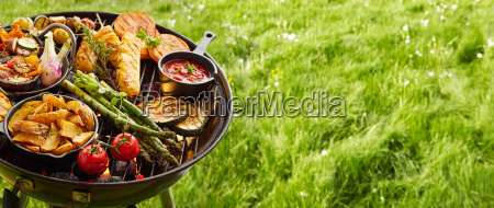 assortment, of, fresh, healthy, vegetables, on - 25177476