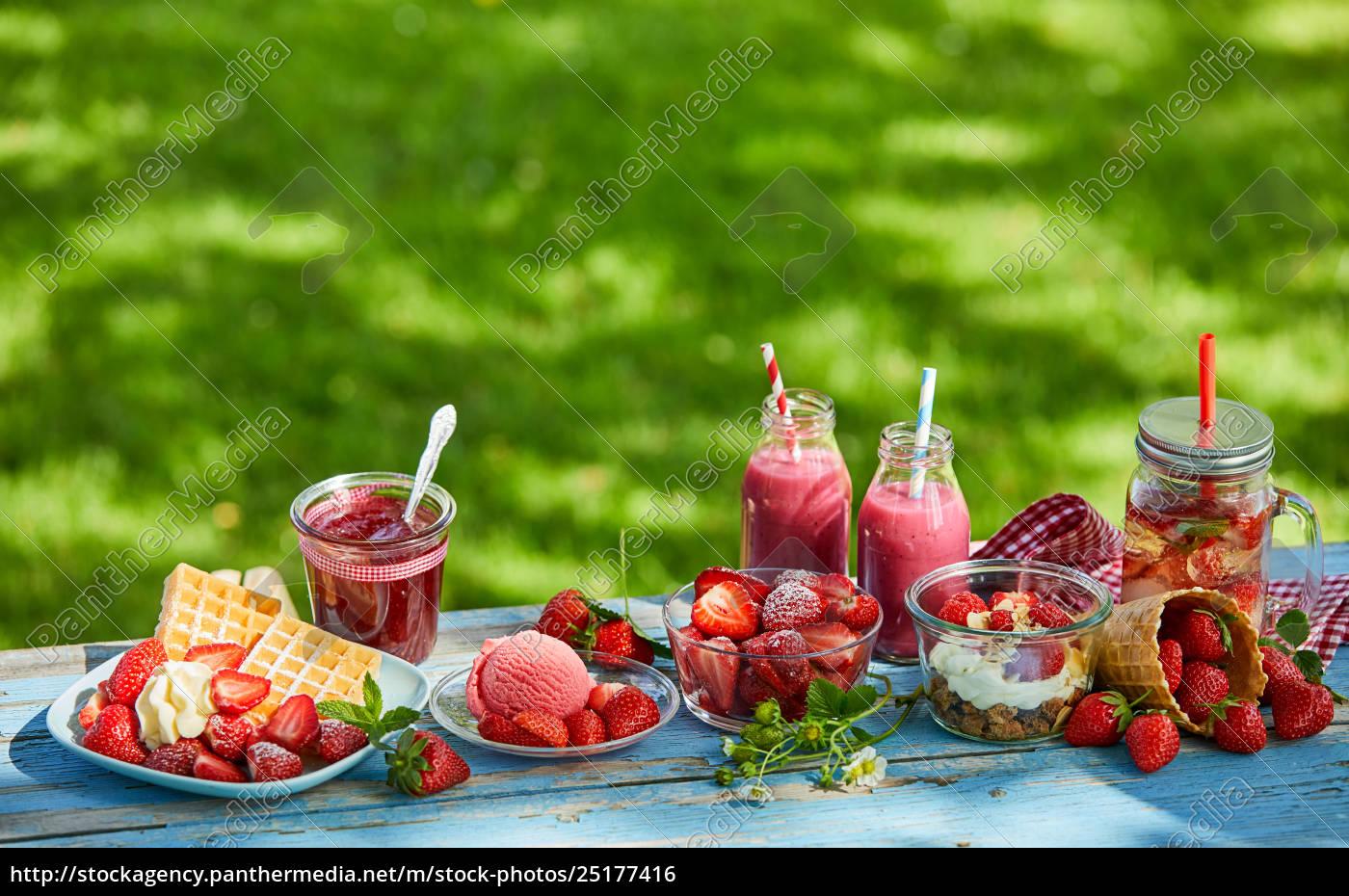 fresh, , vibrant, summer, strawberry, desserts, picnic - 25177416