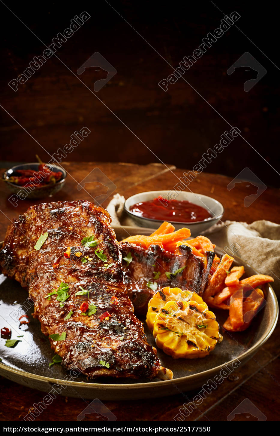 tasty, portion, of, barbecued, spare, ribs - 25177550