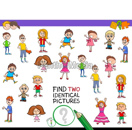 find two identical pictures game for