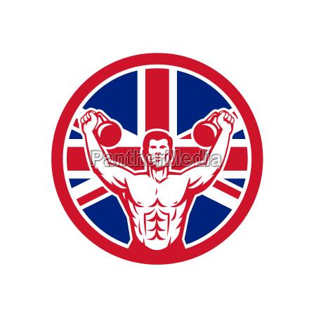 british physical fitness union jack flag