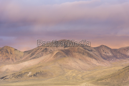 mountains in the evening light at