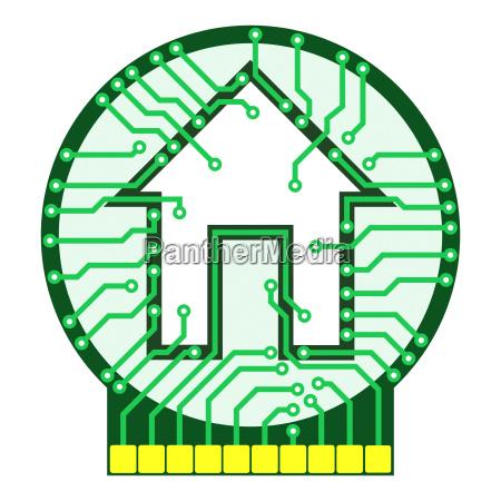 connected home concept logo