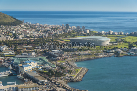 aerial perspective city town metropolis africa