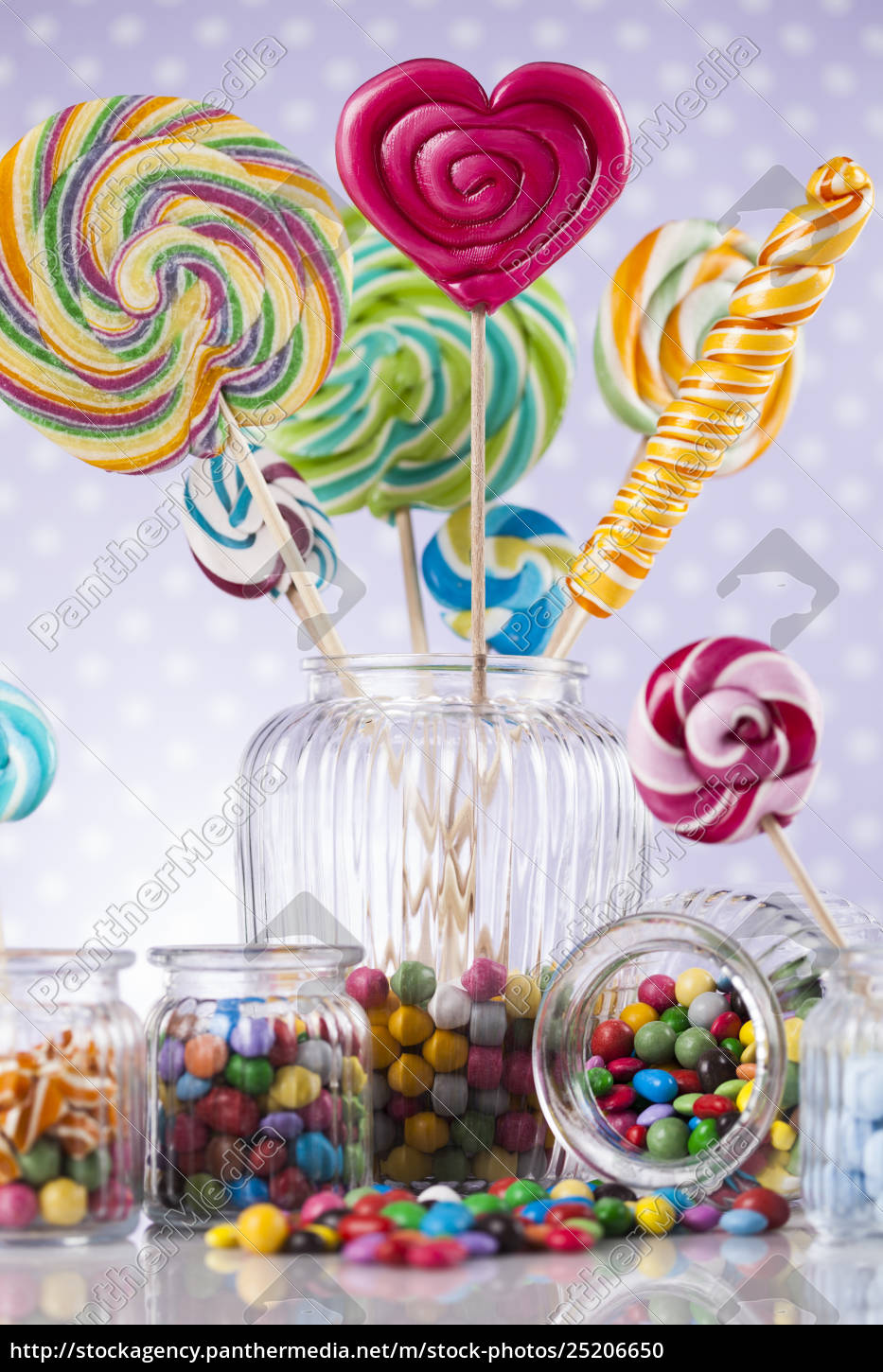 colorful, lollipops, and, different, colored, round - 25206650