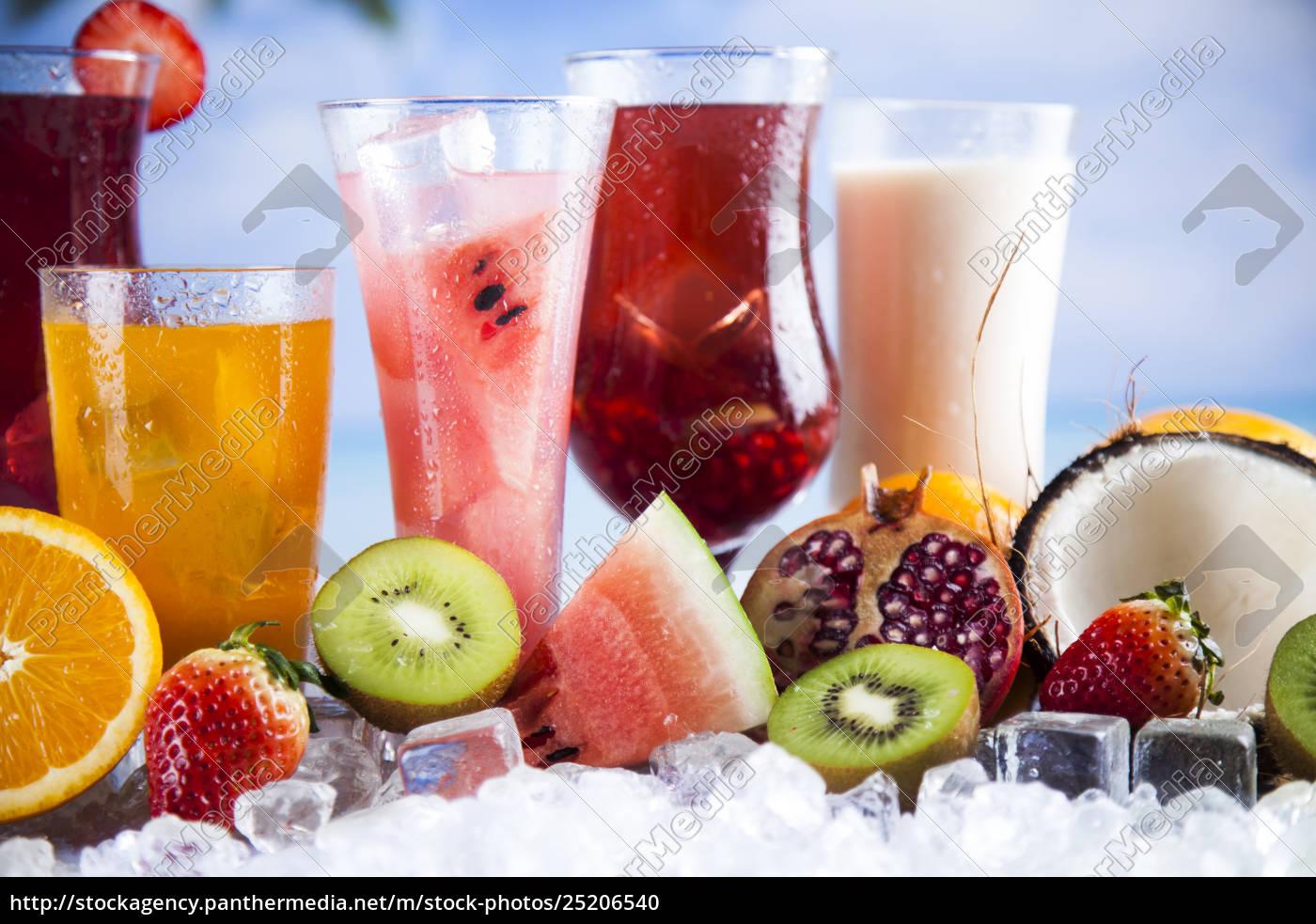 tropical, cocktails, set - 25206540