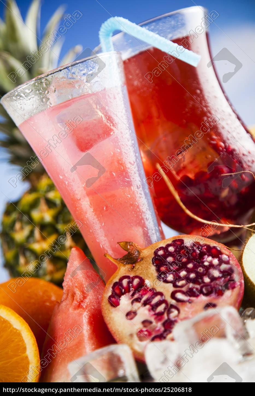 tropical, cocktails, set - 25206818