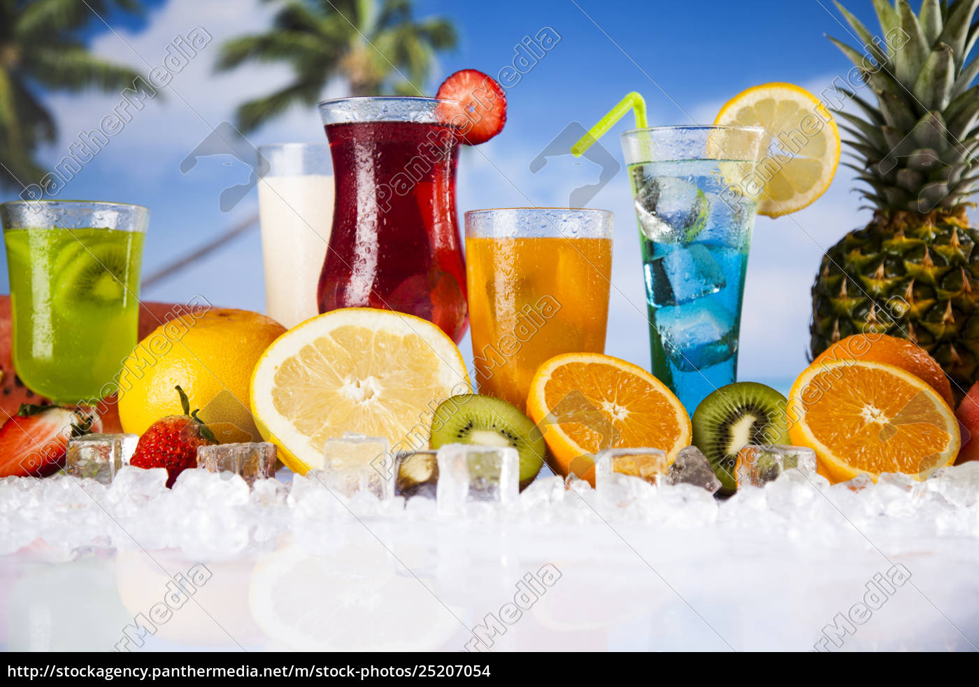 fresh, tropical, fruits, , summer, drink, and - 25207054