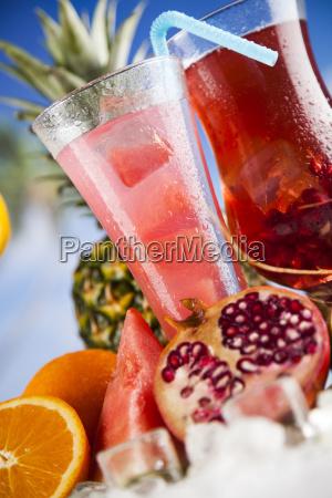 tropical, cocktails, set - 25207182