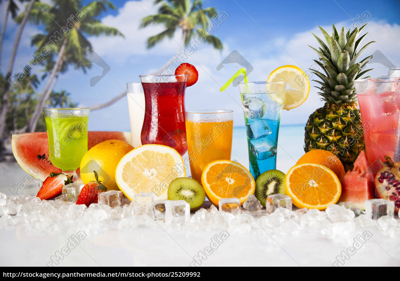 fresh, tropical, fruits, , summer, drink, and - 25209992