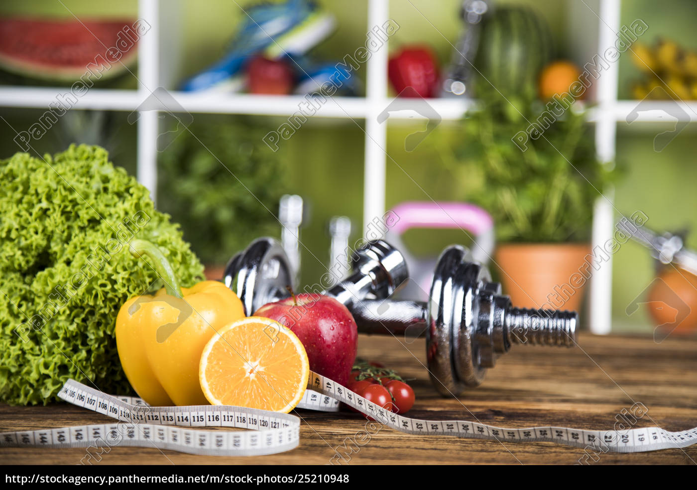 diet, and, fitness, , dumbbell, with, vitamin - 25210948