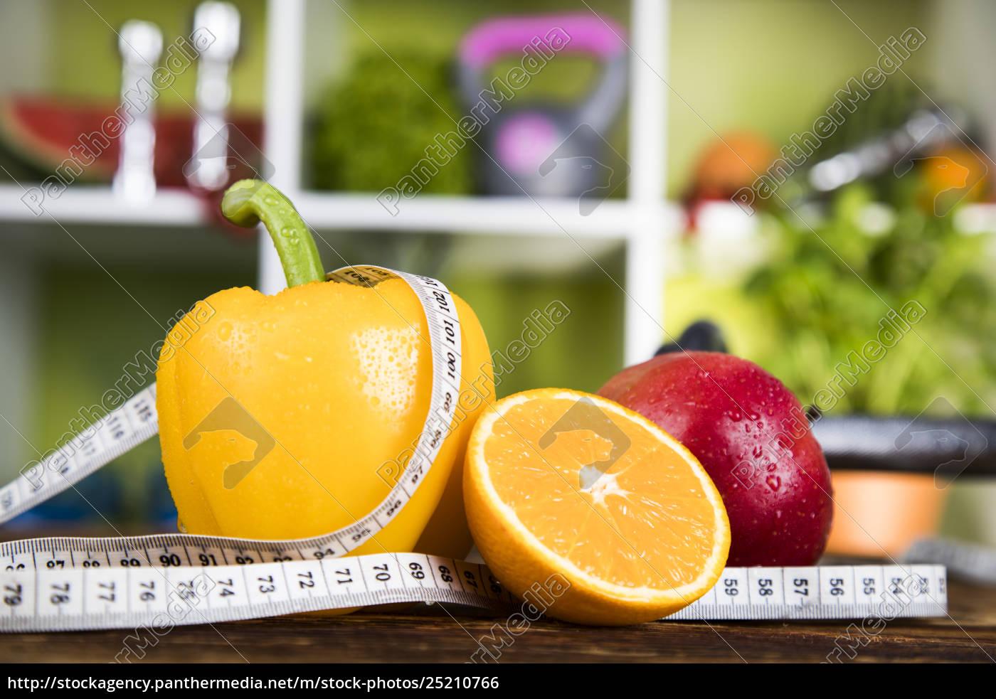 fresh, food, and, measure, tape, sport, diet - 25210766