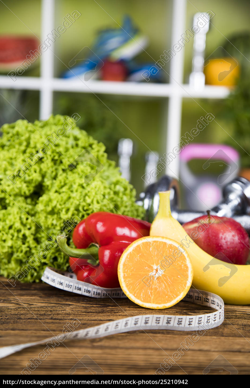 fresh, food, and, measure, tape, sport, diet - 25210942