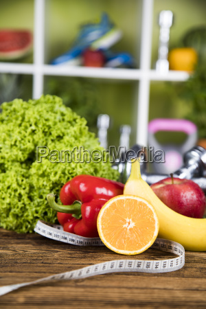 fresh, food, and, measure, tape, sport, diet - 25210942