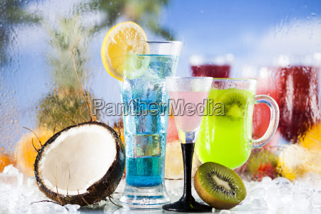 summer, drink, , palm, branch, and, fresh - 25210412