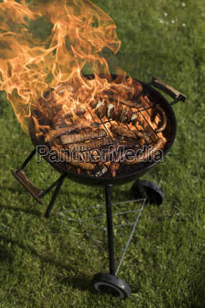 grill, with, smoke, over, summer, outdoor - 25211220