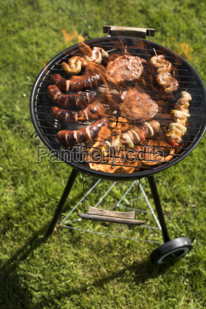 assorted, delicious, grilled, , barbecue, and, fire - 25212616