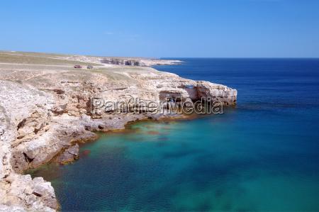 blue waters horizon sights rock sightseeing
