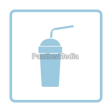disposable soda cup and flexible stick