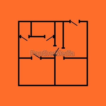 icon, of, apartment, plan - 25228580