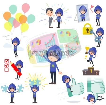 blue parker hacker mensuccess positive