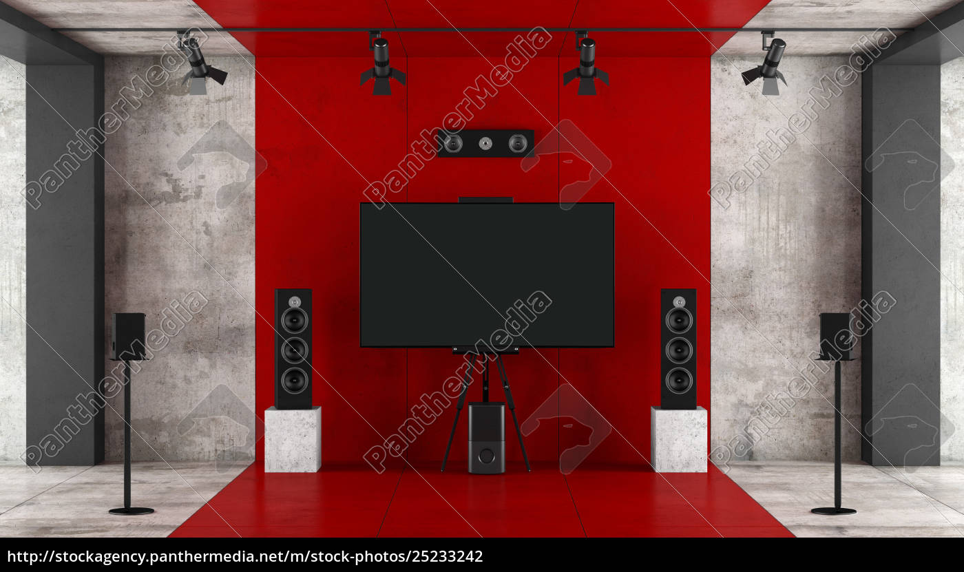 red, and, black, home, cinema, system - 25233242